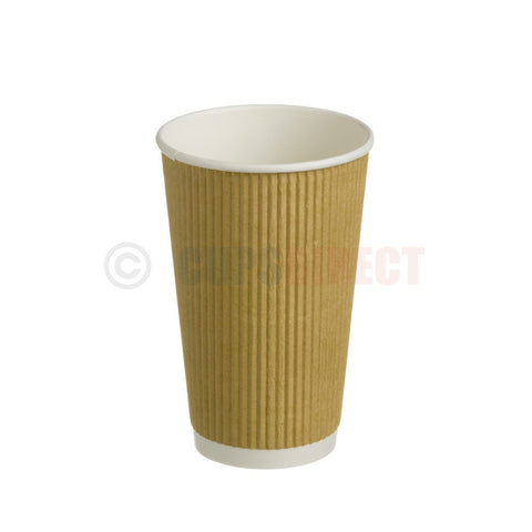 16oz Kraft Ripple Hot Paper Cup