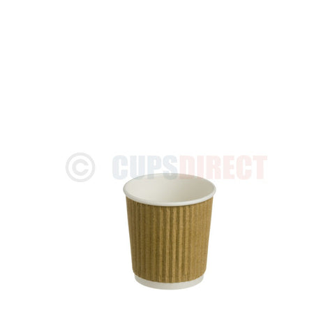 4oz Kraft Ripple Hot Paper Cup