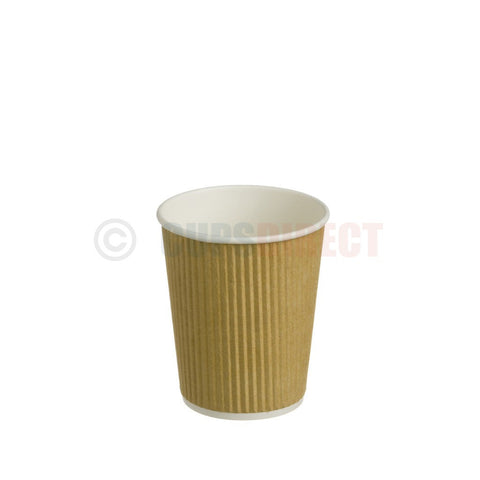 8oz Kraft Ripple Hot Paper Cup