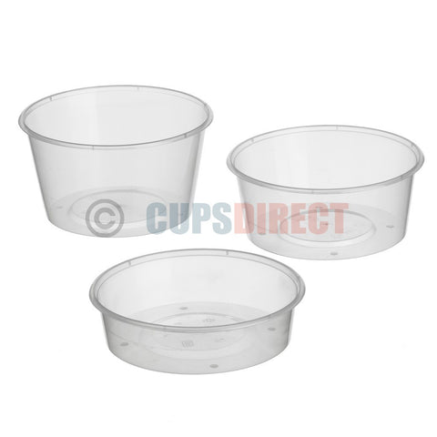Round Microwavable Plastic Deli and Lid Range