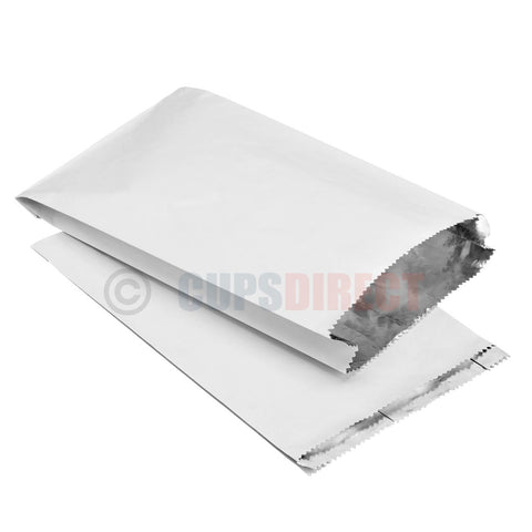 Foil Lined White Paper Bag