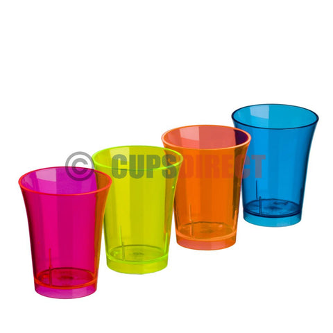 Reusable Shot Glass – Double Measure, Mixed Colours