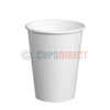 12oz Single Wall, White Paper Cups for Hot Drinks and Coffee