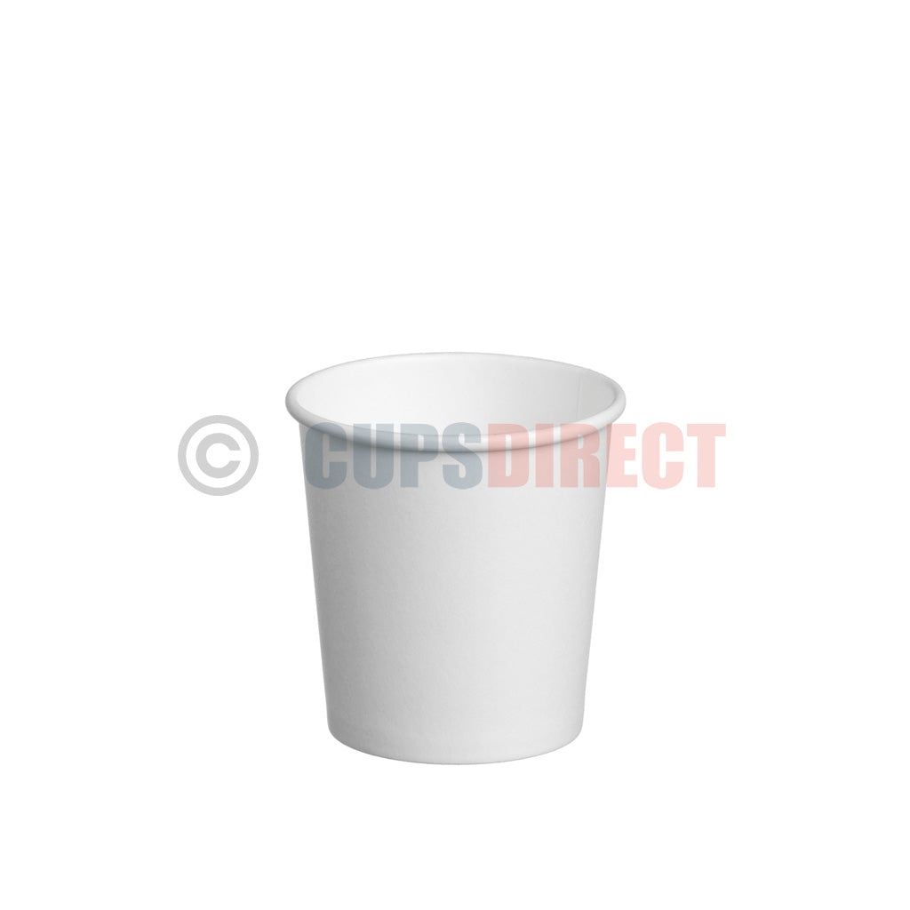 Single Wall White Paper Coffee Cup Range | CupsDirect