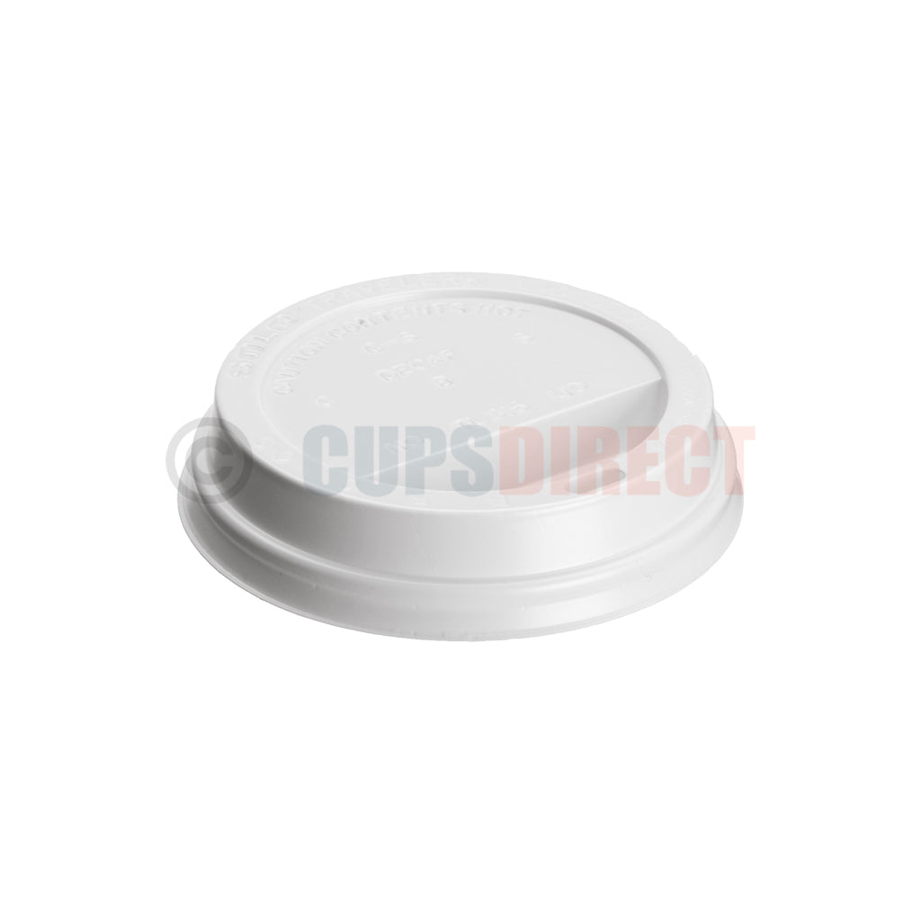 1000 White Disposable Plastic 90mm Sip Lids for Hot//Cold Drinks Paper Cups