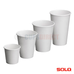 Solo Hot Cup Range - White