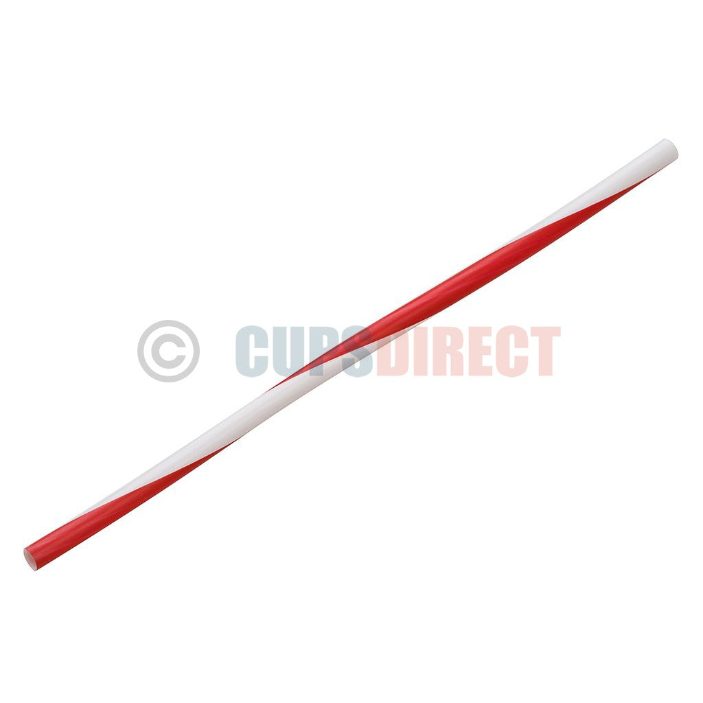 Red Stripe Plastic Drinking Straws