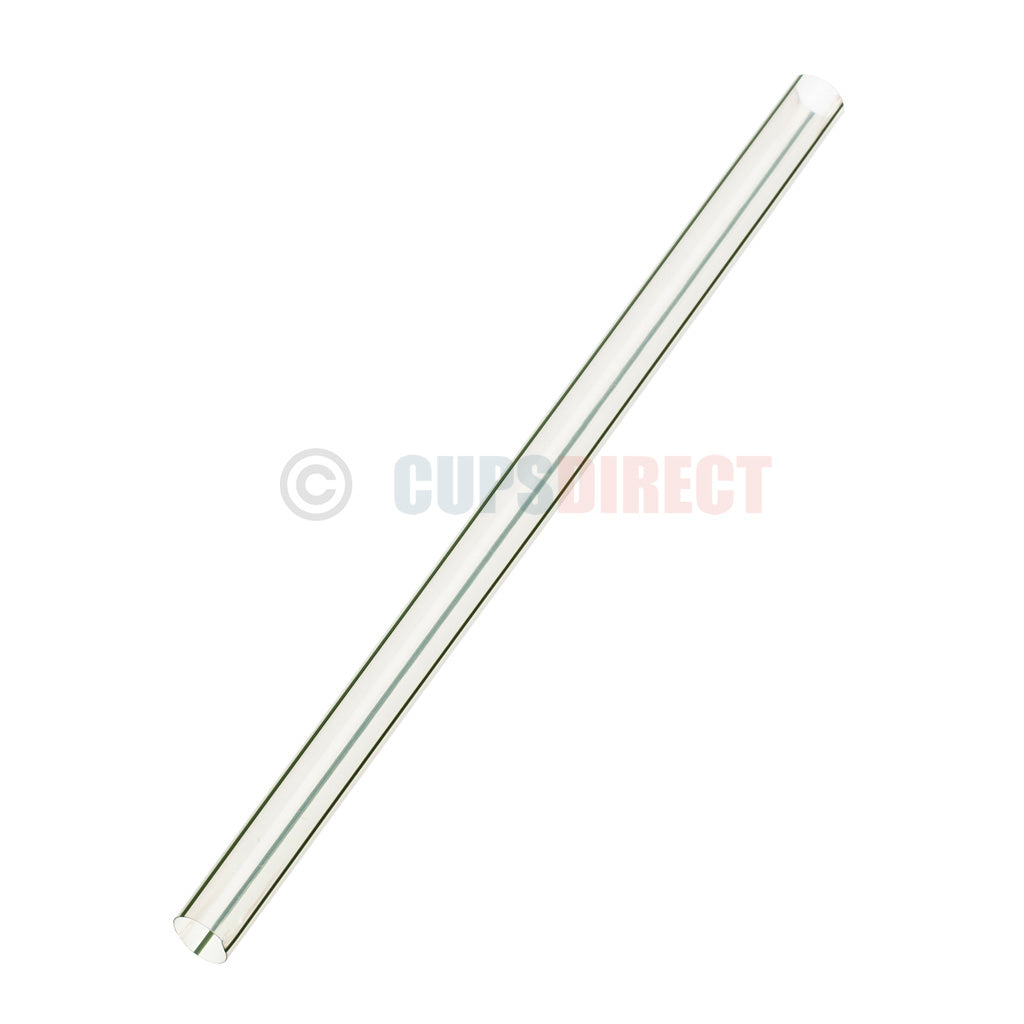 Vegware Super Jumbo 10mm Striped - Clear - PLA Straw