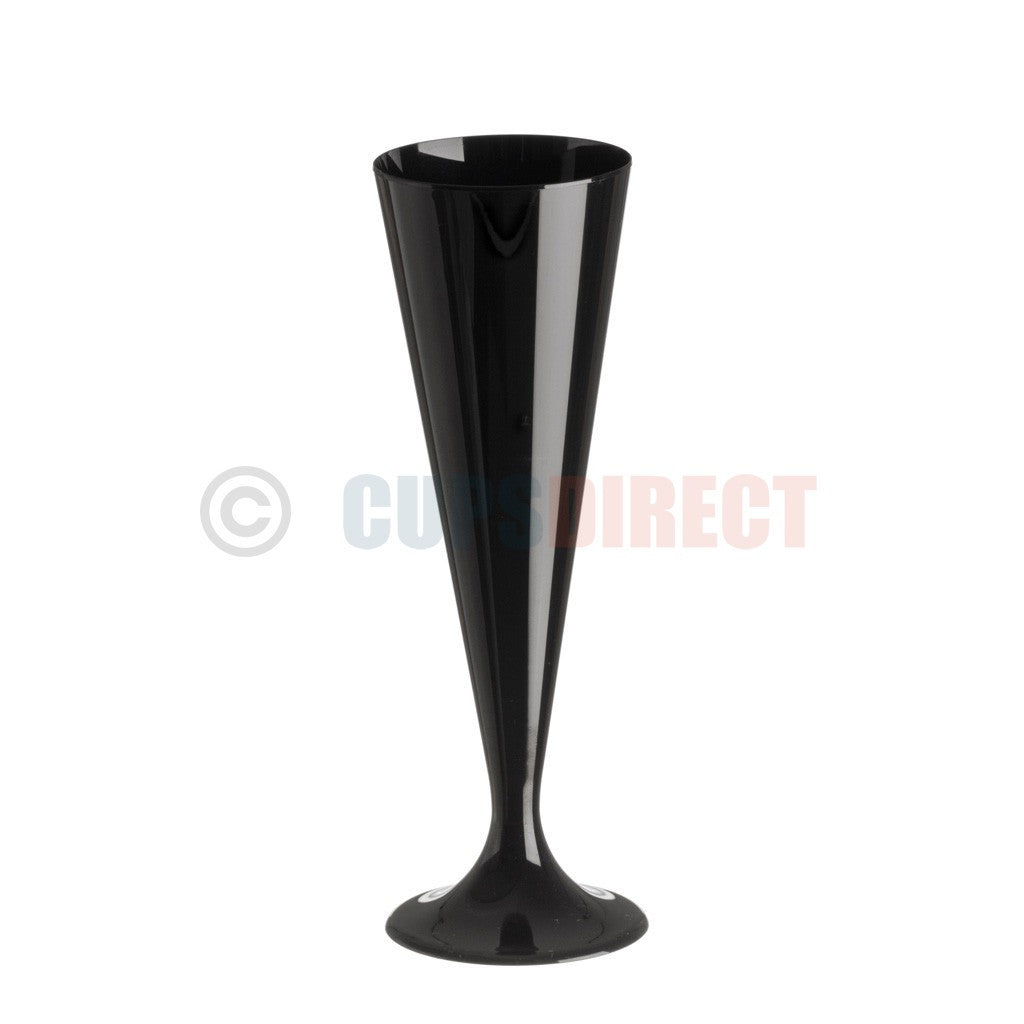 Black Champagne Flute Glass -130ml