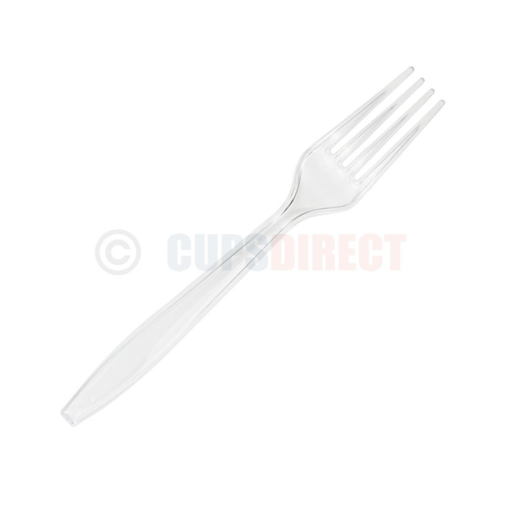 Clear Luxury Plastic Forks