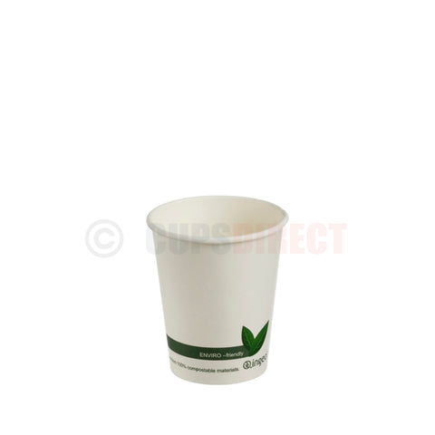"Compostable PLA ""Single Wall"" Paper Coffee Cup 6oz"