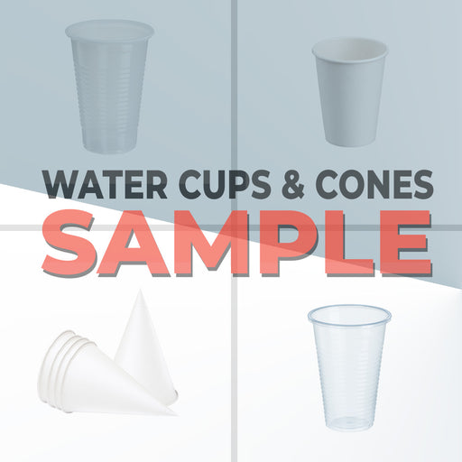Water Cup and Cone Samples
