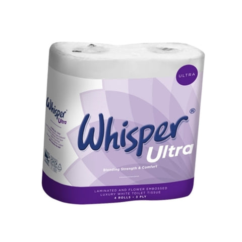 Whisper Ultra White - 3 Ply Luxury Toilet Roll