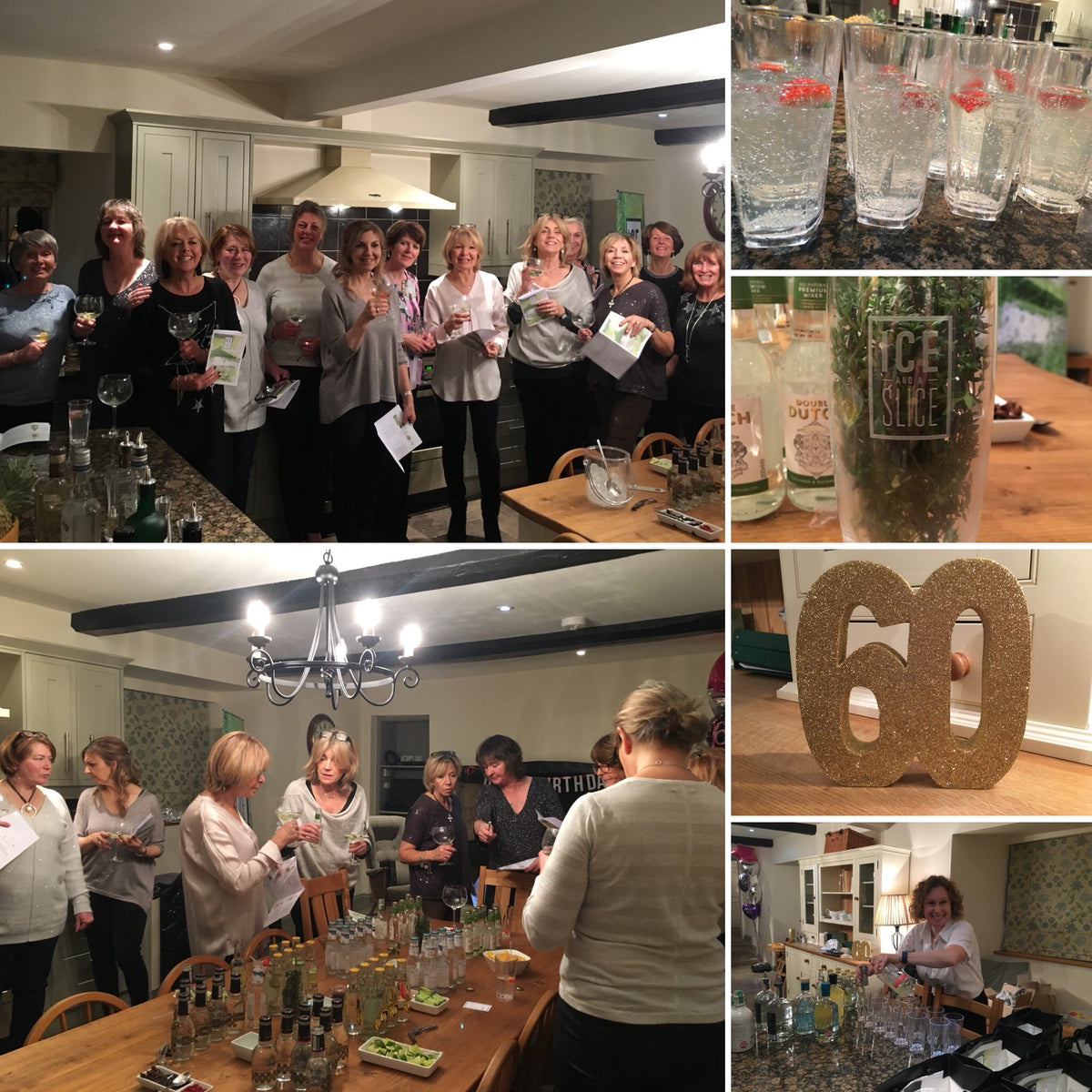 Gin Tasting for Pippa 60th Birthday
