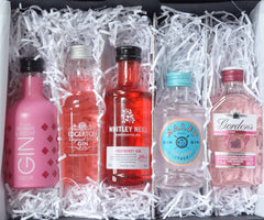 Inside of the Miniature Pink Gin Gift Set by Ice and a Slice