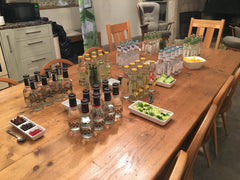 Tonic and garnish table