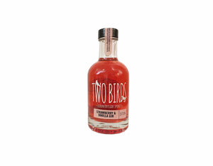 20cl bottle of Two Birds Strawberry and Vanilla Gin