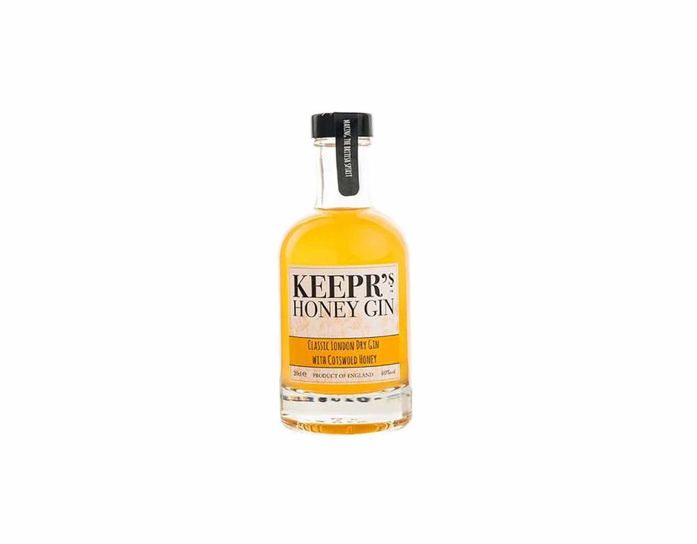 20cl bottle of Keepr's Classic London Dry Gin with Cotswold Honey