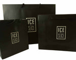 Ice and a Slice Branded, Black Laminated, Rope Handled Gift Bag selection