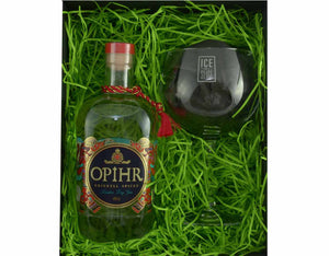 70cl Bottle of Ophir Oriental Spiced Gin with a Balloon Glass in a Gift Box