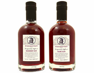 Our Favourite Fruit Gin Duo - 2 x 35cl Foxdenton Estate Sloe and Damson