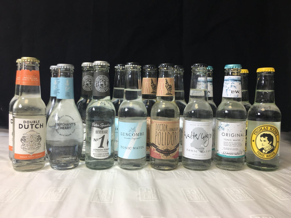 Selection of 16 x 200ml craft tonic water bottles