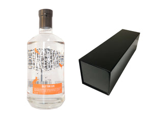 70cl bottle of Two Birds Old Tom Gin with a Black Magnetic Bottle Gift Box