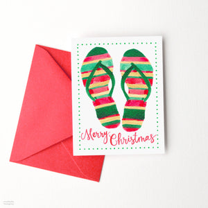 Load image into Gallery viewer, MERRY CHRISTMAS FLIP FLOPS CARD SET