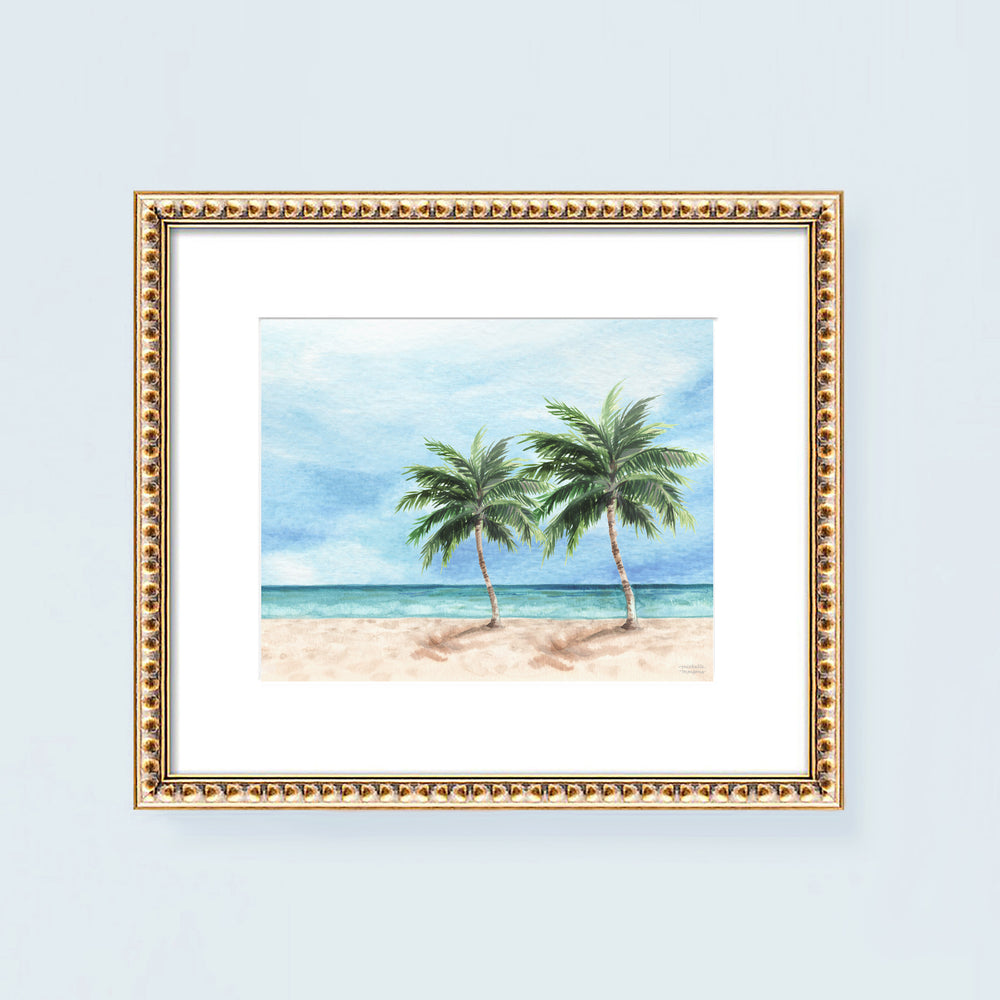 Load image into Gallery viewer, Watercolor Key West Shore Art Print