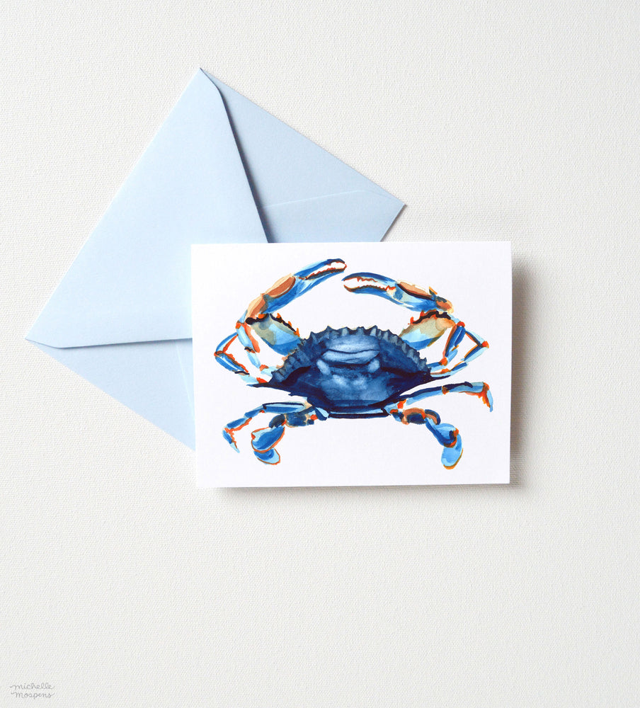 Load image into Gallery viewer, BLUE CRAB NOTE CARD SET