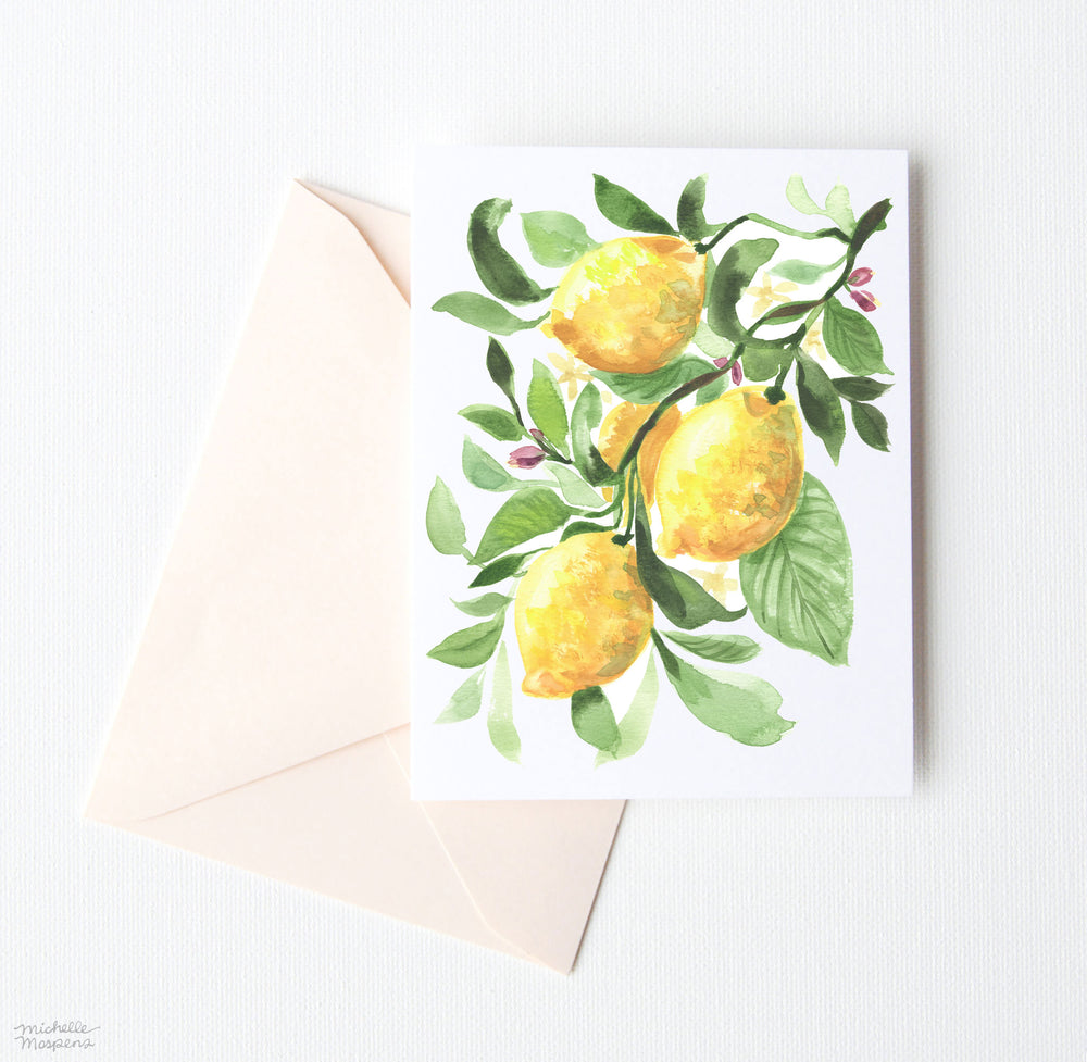 LEMONS NOTE CARD SET