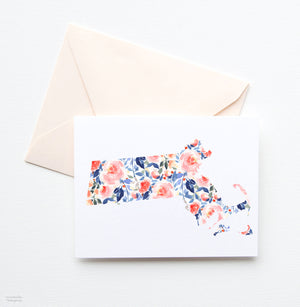MASSACHUSETTS STATE NOTE CARD SET