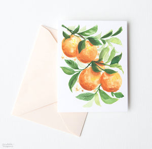 ORANGES NOTE CARD SET