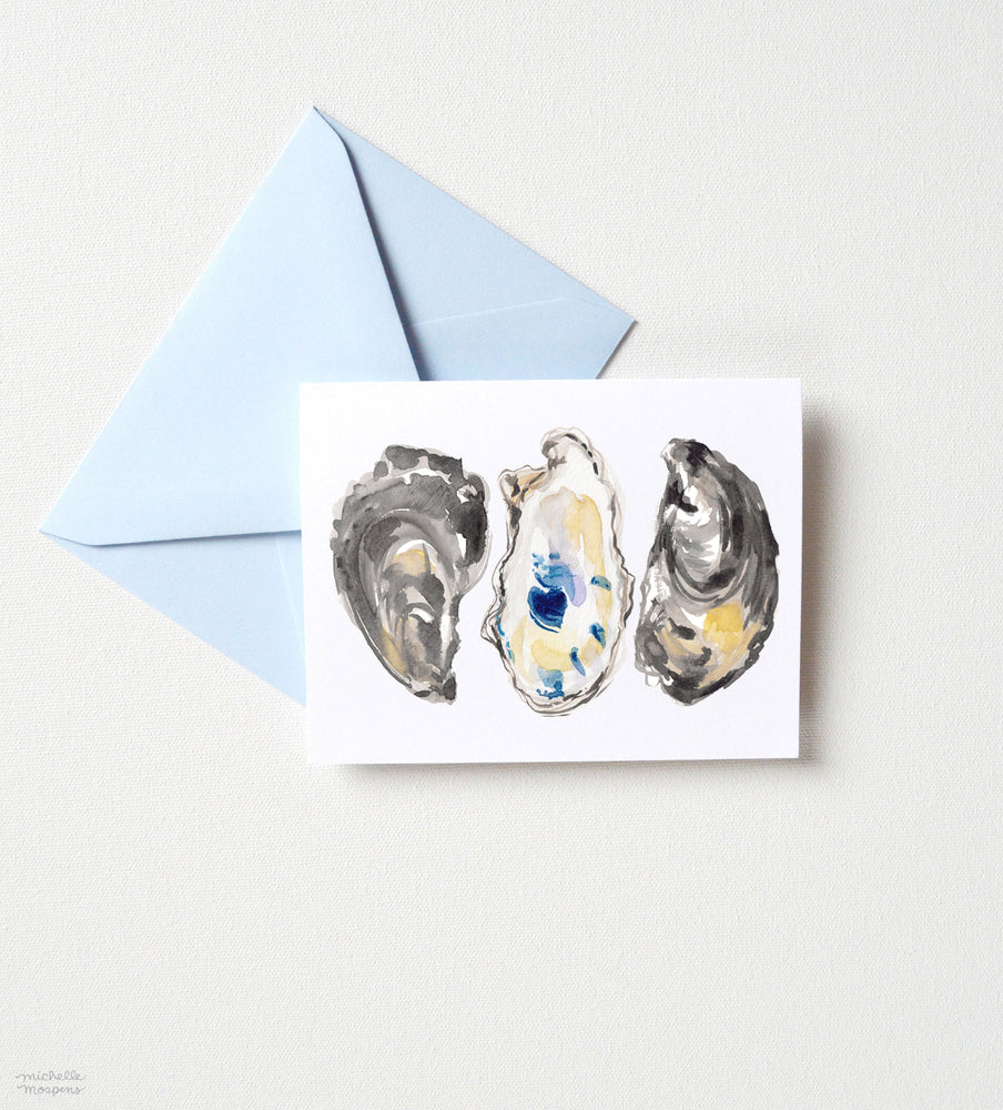 OYSTER SHELLS NOTE CARD SET