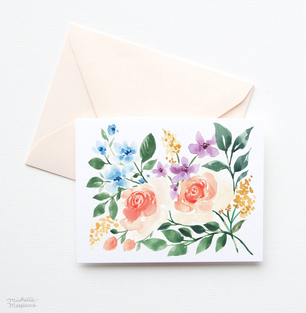 ARTFULLY ARRANGED NOTE CARD SET