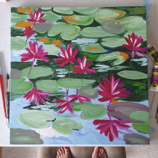 August Blooms Painting