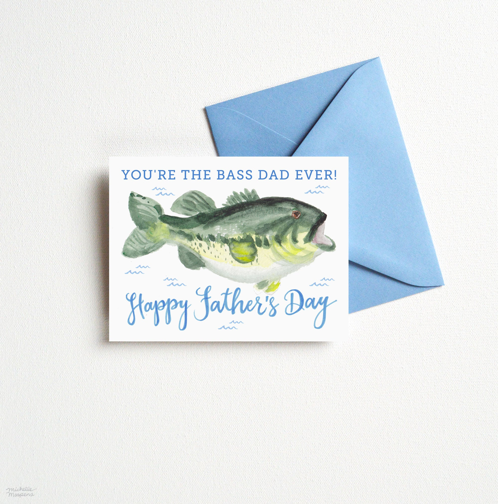 BASS DAD FATHER'S DAY CARD