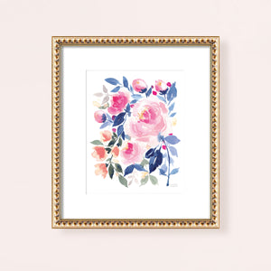Belle Peonia Watercolor Art Print