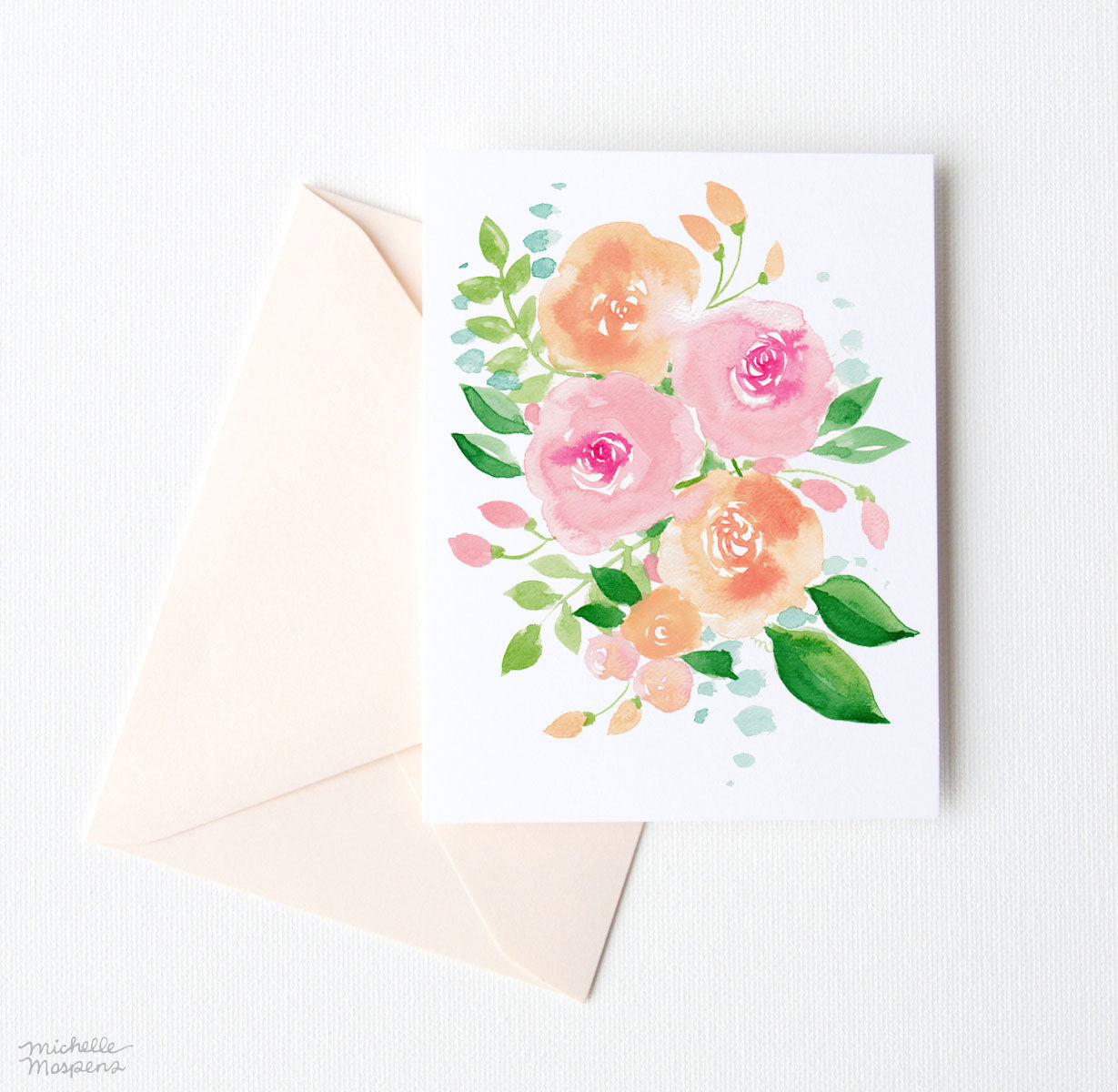 CHEERY BOUQUET NOTE CARD SET