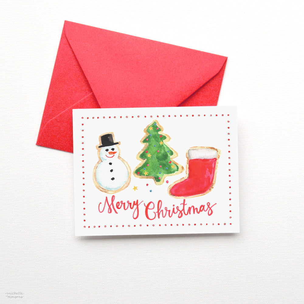 Load image into Gallery viewer, MERRY CHRISTMAS COOKIES CARD SET