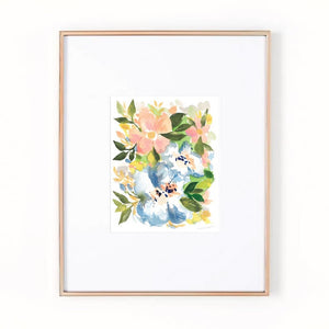 French Country Florals Watercolor Art Print