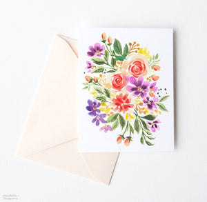 ENCHANTED POSY FLORAL NOTE CARDS SET