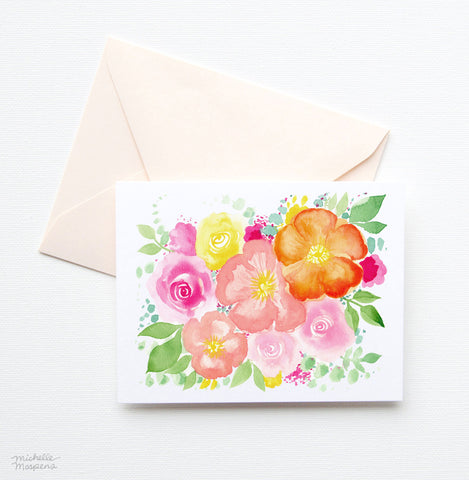 FESTIVE FLORALS NOTE CARD SET