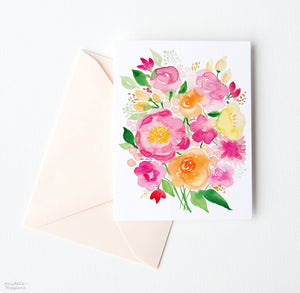 FLOWER POWER NOTE CARDS SET