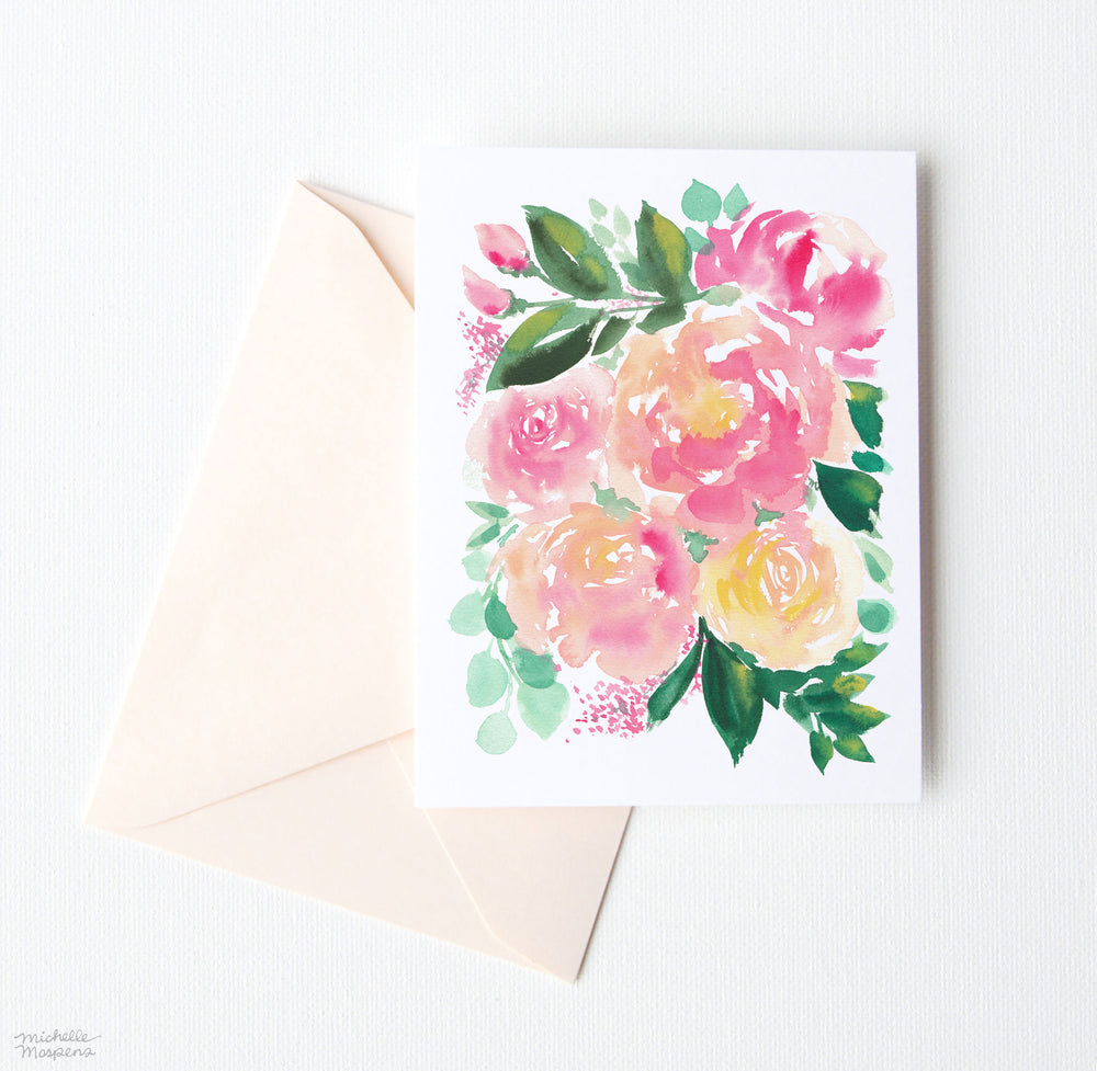 HAND-GATHERED BOUQUET NOTE CARD SET