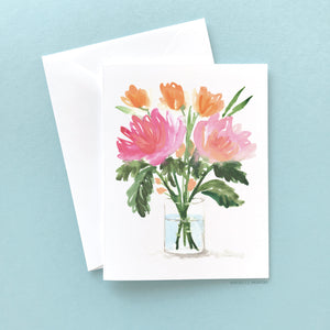 Load image into Gallery viewer, FLOWER BOUQUET NOTE CARD SET