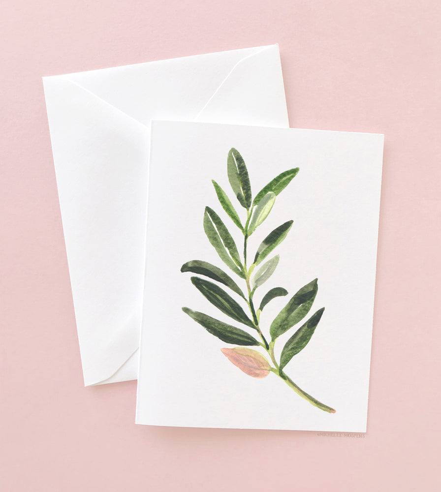 OLIVE BRANCH GREENERY NOTE CARD SET