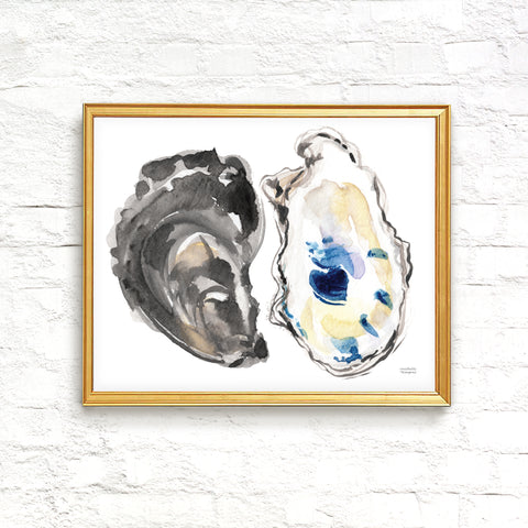 Watercolor Oysters No. 2 Art Print