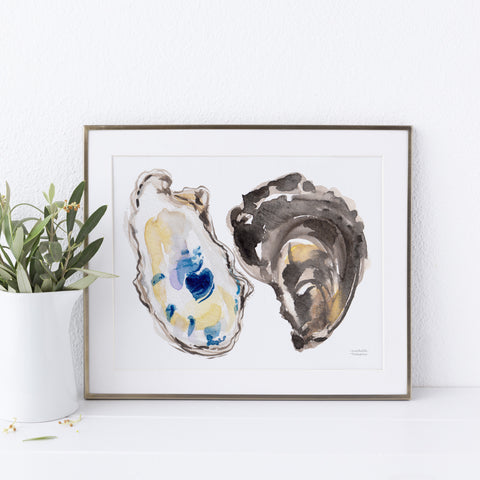 Watercolor Oysters No. 6 Art Print