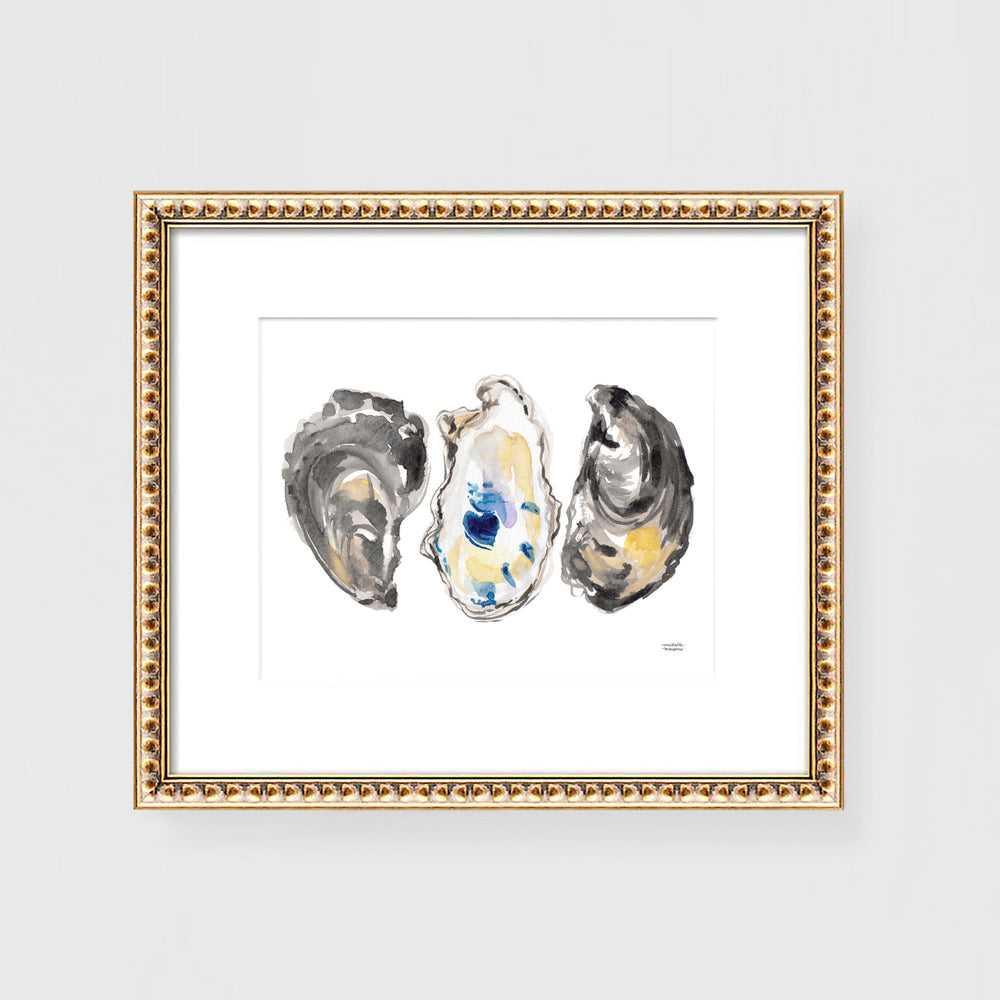 Watercolor Oysters No. 8 Art Print